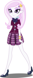 Size: 2000x4686 | Tagged: safe, artist:xebck, fleur-de-lis, equestria girls, friendship games, absurd resolution, blouse, bowtie, bracelet, clothes, crystal prep academy, crystal prep shadowbolts, high heels, jewelry, pleated skirt, shoes, simple background, skirt, solo, transparent background, vector