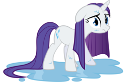 Size: 1969x1316   Tagged: safe, artist:spellboundcanvas, rarity, female, simple background, solo, transparent background, vector, wet
