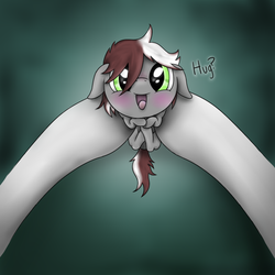 Size: 700x700 | Tagged: safe, artist:teschke, oc, oc only, oc:dusk sveta, pony, baby, colt, cute, holding a pony, hooves, looking at you, male, ocbetes, weapons-grade cute
