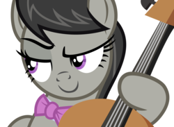Size: 4000x2921   Tagged: safe, artist:ivacatherianoid, octavia melody, slice of life (episode), bedroom eyes, female, simple background, solo, transparent background, vector