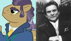 Size: 530x307 | Tagged: safe, screencap, joe pescolt, human, princess spike (episode), comparison, irl, irl human, joe pesci, photo