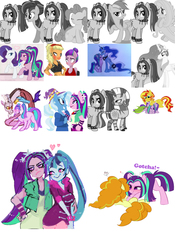 Size: 700x1000 | Tagged: safe, artist:90sigma, artist:arantzitahermoxa, artist:costly, artist:dashiesparkle, artist:discordin, artist:iscord, artist:itsnotdaijoubu, artist:jankrys00, artist:nyanpegasus, artist:osipush, artist:rivalcat, artist:sky-wrench, adagio dazzle, applejack, aria blaze, discord, fluttershy, pinkie pie, princess celestia, princess luna, rainbow dash, rarity, sonata dusk, sunset shimmer, trixie, twilight sparkle, zecora, anthro, zebra, equestria girls, adaria, alternate hairstyle, ariadash, ariajack, arinkie, arisona, arixie, celestiaria, collage, dashblaze, discoria, female, flutterblaze, flutteria, lesbian, lunaria, luria, male, raria, shipping, straight, sunblaze, zecoria