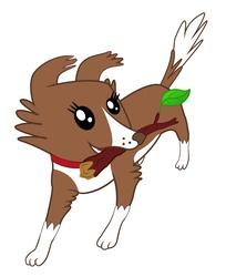 Size: 1024x1257 | Tagged: safe, artist:ogoroman, winona, dog, cute, solo