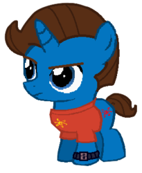 Size: 285x347 | Tagged: safe, artist:arronskull66, pony, unicorn, atom, colt, jimmy neutron, ponified, watch