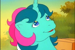 Size: 720x480   Tagged: safe, screencap, fizzy, twinkle eyed pony, g1, cute, female, fizzybetes, solo, wrong eye color