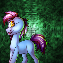 Size: 1600x1600 | Tagged: safe, artist:pellsya, cyclops pony, cyclops, earth pony, pony, donny swineclop, male, open mouth, solo