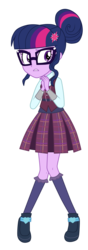 Size: 3300x9337 | Tagged: absurd res, artist:mixiepie, clothes, crystal prep academy, crystal prep academy uniform, equestria girls, friendship games, pleated skirt, safe, school uniform, sci-twi, shadowbolts, simple background, skirt, solo, transparent background, twilight sparkle, vector
