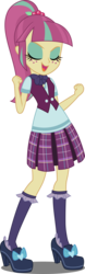 Size: 2000x6399   Tagged: safe, artist:xebck, sour sweet, equestria girls, friendship games, absurd resolution, clothes, crystal prep academy, crystal prep shadowbolts, female, freckles, plaid skirt, pleated skirt, shoes, simple background, skirt, socks, solo, transparent background, vector, vest