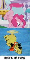 Size: 278x549 | Tagged: amending fences, dastardly and muttley in their flying machines, hanna barbera, meme, muttley, pinkiecopter, pinkie pie, safe, tailcopter