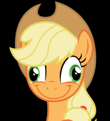 Size: 463x509 | Tagged: safe, edit, edited screencap, screencap, applejack, pony, black background, derp, faic, female, funny, funny face, silly, silly pony, simple background, smiling, solo, vector, wat, who's a silly pony