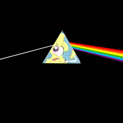 Size: 1900x1900 | Tagged: album cover, amending fences, background pony, edit, female, flaskhead hearts, hipgnosis, lemon hearts, mare, pink floyd, ponified, ponified album cover, pony, prism, safe, solo, the dark side of the moon, unicorn