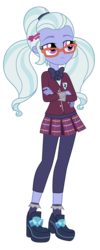 Size: 3500x8724 | Tagged: absurd res, artist:mixiepie, bowtie, clothes, crossed arms, crystal prep academy, crystal prep academy uniform, equestria girls, friendship games, glasses, pleated skirt, safe, school uniform, shadowbolts, simple background, skirt, sugarcoat, transparent background, vector