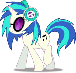 Size: 3115x3000 | Tagged: safe, artist:dashiesparkle, dj pon-3, vinyl scratch, pony, unicorn, slice of life (episode), cutie mark, female, headphones, hooves, horn, mare, simple background, smiling, solo, sunglasses, transparent background, vector