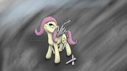 Size: 1920x1080 | Tagged: artist:vabla, fluttershy, safe, solo