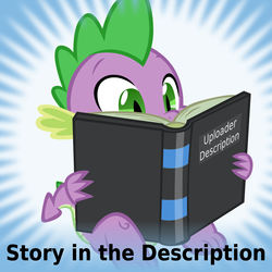 Size: 1024x1024 | Tagged: safe, artist:dtkraus, spike, derpibooru, book, meta, official spoiler image, reading, spoilered image joke, story included, vector