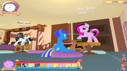 Size: 1920x1080 | Tagged: safe, screencap, oc, oc only, oc:angel feather, legends of equestria, 3d, dancing, game
