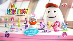 Size: 1680x941 | Tagged: safe, equestria girls, chocolate egg, commercial, creepy, german, kill me, kinder egg, my little pony logo, nightmare fuel, toy