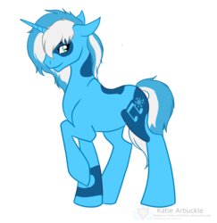 Size: 2062x2121 | Tagged: artist:stagetechyart, looking at you, oc, oc only, oc:snow sailor, pony, raised hoof, safe, simple background, solo, transparent background, unicorn