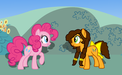 Size: 1140x709 | Tagged: safe, artist:t-mack56, cheese sandwich, pinkie pie, alternate universe, base used, grilled cheese (r63), rule 63