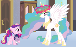 Size: 6400x4000 | Tagged: safe, artist:beavernator, princess cadance, princess celestia, twilight sparkle, pony, absurd resolution, baby, baby pony, babylight sparkle, beavernator is trying to murder us, cute, cutedance, cutelestia, diaper, filly, foal, pie, pied, this will end in laughs, this will end in tears and/or a journey to the moon, twiabetes
