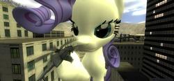 Size: 1280x600 | Tagged: safe, rarity, pony, 3d, giant pony, giantess, gmod, macro