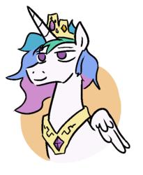 Size: 483x590 | Tagged: safe, artist:jargon scott, princess celestia, cute, prince solaris, rule 63, rule63betes, solarabetes, solo