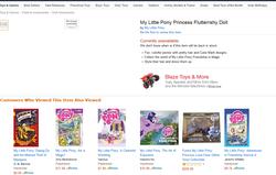 Size: 1152x734 | Tagged: safe, fluttershy, alicorn, amazon.com, doll, fluttercorn, race swap, text, toy