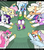 Size: 1117x1275   Tagged: safe, artist:droll3, applejack, fluttershy, pinkie pie, rainbow dash, rarity, spike, trixie, twilight sparkle, alicorn, pony, 3:, and then spike was a man, applespike, blushing, bride, clothes, death by snu snu, didn't think this through, dress, eyes on the prize, fanfic art, fanfic in the description, fear, female, flower, flower in hair, flutterspike, flying, frown, gritted teeth, harem, heart eyes, help, imminent snu snu, jewelry, jumping, lidded eyes, love potion, male, mane seven, mane six, mare, oh crap face, open mouth, pinkiespike, polyamory, potion, rainbowspike, shipping, smiling, smirk, socks, sparity, spike gets all the mares, spixie, spread wings, straight, this will end in death by snu snu, this will end in pain and/or tears, this will not end well, tiara, twispike, wedding dress, white socks, wingding eyes
