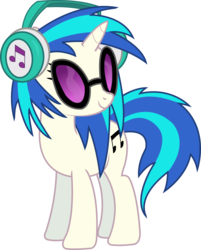 Size: 1302x1617 | Tagged: safe, artist:sketchmcreations, dj pon-3, vinyl scratch, pony, unicorn, slice of life (episode), cutie mark, female, headphones, hooves, horn, inkscape, mare, simple background, smiling, solo, sunglasses, transparent background, vector