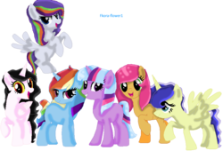 Size: 867x588 | Tagged: safe, artist:flora-flower1, artist:selenaede, oc, oc only, alicorn, hybrid, pony, alicorn oc, digital art, interspecies offspring, magical lesbian spawn, next generation, offspring, paint.net, parent:applejack, parent:discord, parent:fluttershy, parent:pinkie pie, parent:princess celestia, parent:princess luna, parent:rainbow dash, parent:rarity, parent:trixie, parent:twilight sparkle, parents:applepie, parents:dislestia, parents:lunashy, parents:raridash, parents:twixie