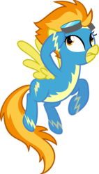 Size: 1352x2374 | Tagged: safe, artist:breadking, artist:egophiliac, spitfire, pony, female, simple background, solo, transparent background, vector, wonderbolts uniform