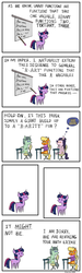 Size: 1500x5000   Tagged: safe, artist:kopaleo, ms. harshwhinny, rarity, twilight sparkle, ada lovelace, albert einstein, analytical engine, arity, comic, difference engine, math, parody, pointy ponies, pun, xkcd