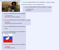 Size: 813x689 | Tagged: safe, /mlp/, 4chan, allegedly, fake, m.a. larson, op is a duck, op is trying to start shit, russian proofster, seems legit, text