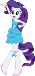 Size: 3149x6676 | Tagged: artist:sugar-loop, boots, bracelet, clothes, dancing, dress, equestria girls, fall formal outfits, high heel boots, jewelry, ponied up, ponytail, rarity, safe, simple background, solo, transparent background, vector