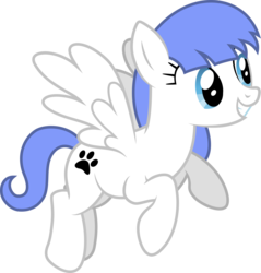 Size: 7823x8192 | Tagged: safe, artist:djdavid98, oc, oc only, oc:snow pup, pony, absurd resolution, flying, simple background, solo, transparent background, vector