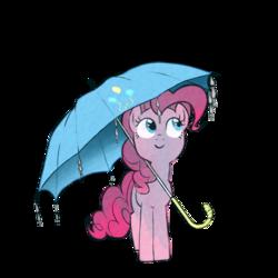 Size: 1000x1000 | Tagged: safe, artist:zigrock, pinkie pie, pony, cute, diapinkes, pixiv, simple background, solo, transparent background, umbrella