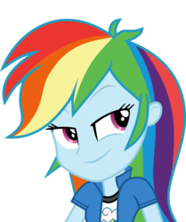 Size: 6486x7757   Tagged: safe, artist:luckreza8, rainbow dash, equestria girls, friendship games, .svg available, absurd resolution, canterlot high, clothes, inkscape, long hair, simple background, solo, transparent background, vector, wondercolts