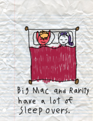 Size: 600x783 | Tagged: artist:fonypan, artist:sweetie belle, bed, big macintosh, earth pony, implied rarimac, lined paper, male, pony, quality, rarimac, rarity, safe, shipping, stallion, straight, stylistic suck, sweetie's jurnal