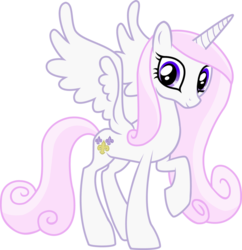 Size: 879x909 | Tagged: alicorn, edit, fleur-de-corne, fleur-de-lis, palette swap, pony, princess cadance, race swap, raised hoof, recolor, safe, simple background, solo, transparent background