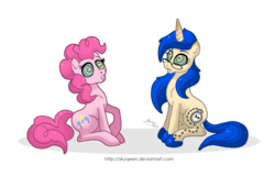 Size: 1024x698 | Tagged: artist:mysweetqueen, hypnosis, oc, pinkie pie, safe, source needed, traditional art