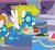 Size: 830x770   Tagged: safe, screencap, fire streak, surprise, pegasus, pony, rarity investigates, apple, cake, clothes, cookie, cupcake, female, food, goggles, mare, solo focus, uniform, wonderbolts uniform