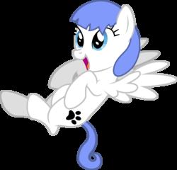 Size: 3338x3200 | Tagged: safe, artist:1glazelover, artist:djdavid98, oc, oc only, oc:snow pup, pegasus, pony, on back, simple background, solo, transparent background, vector