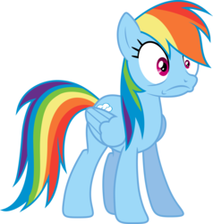 Size: 3200x3358 | Tagged: safe, artist:djdavid98, artist:embersatdawn, rainbow dash, pegasus, pony, rarity investigates, .ai available, .svg available, do not want, female, mare, simple background, solo, transparent background, vector