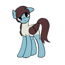 Size: 1000x1000 | Tagged: artist needed, safe, artist:bojangleee, bird pone, pegasus, pony, looking at you, ponified, simple background, solo, transparent background