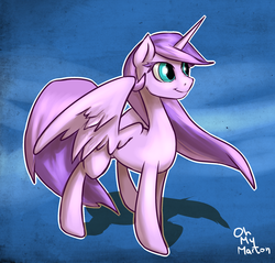 Size: 1280x1223 | Tagged: safe, artist:ohmymarton, oc, oc only, oc:crystal rose, alicorn, pony, alicorn oc, atryl-ish, solo