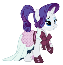 Size: 4889x5000 | Tagged: absurd res, alternate hairstyle, artist:kooner-cz, clothes, detective rarity, dress, .psd available, rarity, rarity investigates, safe, simple background, solo, transparent background, vector