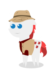 Size: 800x1011 | Tagged: safe, artist:emperorbobby, oc, oc only, oc:acer maple, earth pony, pony, bbbff, canada, canadian, clothes, ginger, hat, lumberjack, pointy ponies, redhead, shirt, simple background, solo, transparent background, vector, vest