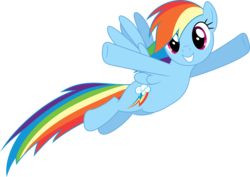Size: 4226x3000   Tagged: safe, artist:dashiesparkle, artist:hawk9mm, rainbow dash, rarity investigates, .svg available, absurd resolution, cute, dashabetes, female, flying, ponyscape, simple background, smiling, solo, transparent background, vector, waving