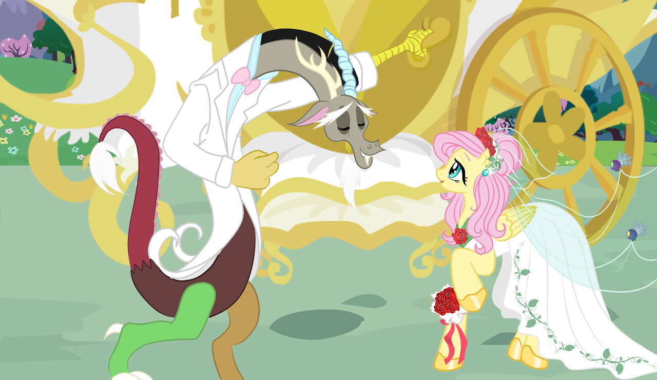 Fluttershy dress up wedding