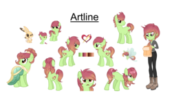 Size: 5141x2804 | Tagged: safe, artist:elskafox, oc, oc only, oc:artline, breezie, rabbit, equestria girls, base used, breeziefied, clothes, dress, equestria girls-ified, female, filly, gala dress, reference sheet, rule 63, species swap